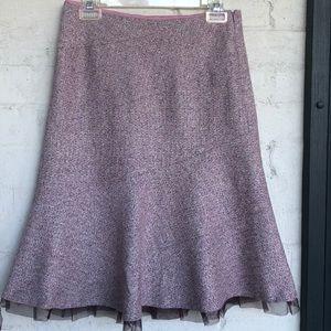 Anthropologie Elevenses wool blend skirt